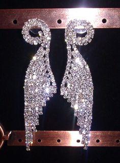 Angel Wings Crystal Dangle Earrings [EA033] - $15.00 : Waterbabies Bikini, Best Fitting Custom Competition Bikinis in the World