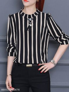 Spring Blouse Trend You Should Wear in 2020 - Less layers, brighter colors, and spring blouses, of course, Cute Fashion, Fashion Outfits, Fashion Blouses, Cheap Fashion, Spring Blouses, Night Dress For Women, Bell Sleeve Blouse, Petite Women, Blouse Outfit