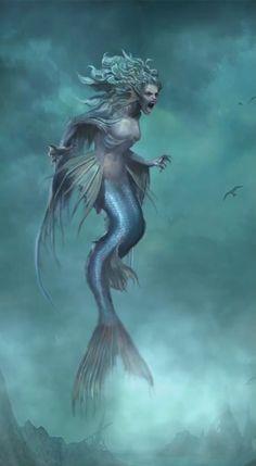 This is terrifying but I love it Subnautica Concept Art, Pixar Concept Art, Fallout Concept Art, Monster Concept Art, Creature Concept Art, Mythological Creatures, Fantasy Creatures, Mythical Creatures, Dark Mermaid