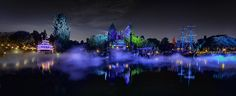 Gorgeous panorama of the Rivers of America during Mickey's Halloween Party at Disneyland. Photo by #WilliamMcIntosh
