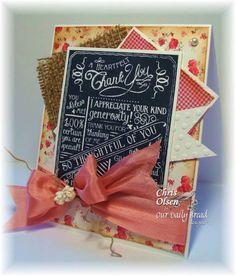 Stamps - Our Daily Bread Designs Chalkboard  - Birthday/Thank You