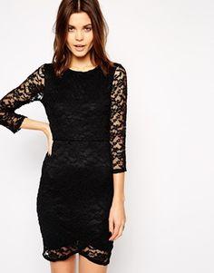 ASOS Lace Body-Conscious Asymmetric Dress