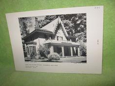 Henry Delamater Cottage Rhinebeck NY Architect Davis Black and White Print  #Vintage