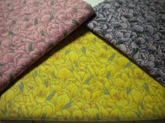Floral Fabric Cotton 2 1/3yd total Tulip Print by SewEverAfter
