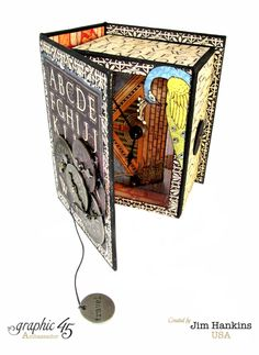 April 2015 G45 Artisan Style - Travel Clock in ATC Book Box by Jim Hankins, the Gentleman Crafter