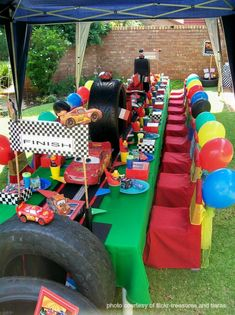 Disney Cars Birthday Party... This stuff is insane! For kristi and carter