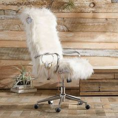 DIY it throw a fuzzy white blanket over your chair White fuzzy