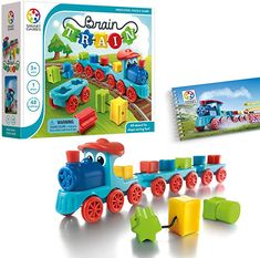 Amazon.com: SmartGames Brain Train Board Game: A Puzzle Game & Brain Game + Toy Train for Kids, Cognitive Skill and Motor Skill Building Challenges, Ages 3+.: Toys & Games