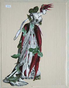 'Turnip' by Katie McCann  collage on wood - 2012