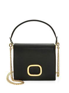 Roger Vivier Crossbody Leather Day Bag - Black Shoulder Bags edfb669f96158