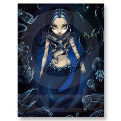 """""""Mermaid of the Deep"""" Postcard"""