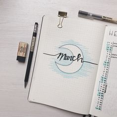 March monthly on my bujo @lelouve
