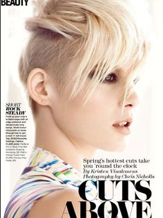 """FLARE May/11 """"Cuts Above""""   Makeup by Diana Carreiro  Hair by Justin German  Photography by Chris Nicholls"""