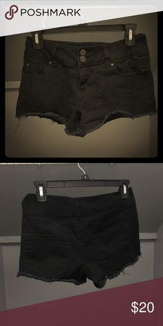 Shorts Black frayed shorts Charlotte Russe Shorts Jean Shorts