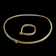 ** Vivianne Torun Bülow-Hübe armring och ring guld.