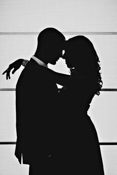 Silhouette Photo http://erinlassahn.com/archives/marisa-brian-a-mad-men-themed-engagement/