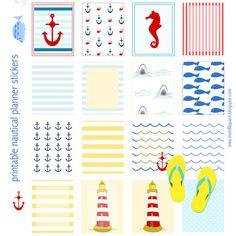 Free printable nautical planner stickers - ausdruckbare DIY Sticker - freebie | MeinLilaPark – DIY printables and downloads