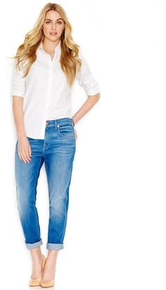 For All Mankind Cropped Skinny Leg Jeans Dark Wash