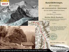 1837 - Eringerthal (Val d'Hérens), Glacier d'Arola et Mont-Collon Wallis, Cover, Books, Art, Once Upon A Time, Science, Art Background, Libros, Book