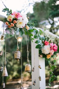 Bells Hanging From Arch | Swoon by Katie, San Diego, CA | Theknot.com