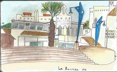Playa de la Barrosa Lápices acuarelables