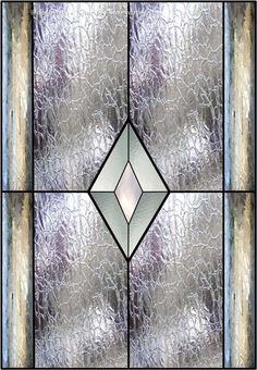 Stained Glass Diamond Window Faux Privacy Stained Glass Clings and Window Films