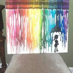 Finally made one :) Crayola melted art