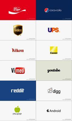 Reverse logos of competing brands #logo #design #humor http://stocklogos.com/topic/reverse-logos-competing-brands