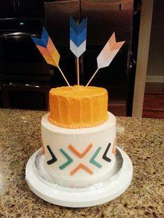 Tribal boho baby shower cake by #ShugarShugar