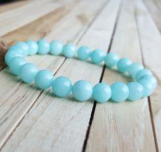 8mm amazonite bracelet lucky stone bracelet Healing Bead Protection bracelet…