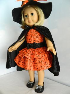Halloween costume dress for American Girl doll or by SewCuteJune, $31.99