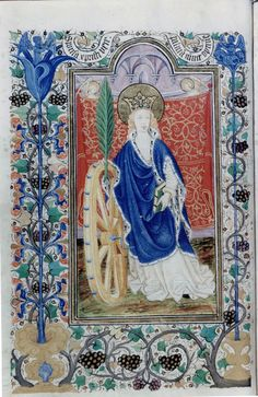 Saint Catherine of Alexandria of the Mount Sinai from the Book of the King Duarte,15th ct