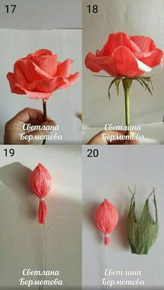 Make Easy Corrugated Paper Rose step by step DIY tutorial instructions…How to DIY Easy Rose from Crepe Paper thumbCrepe paper flowers look like natural flowers but last longer and won't wilt or droop. That's why they are very popular for party Paper Flowers Craft, Paper Flowers Wedding, Crepe Paper Flowers, Felt Flowers, Flower Crafts, Diy Flowers, Fabric Flowers, Diy Paper, Paper Crafts