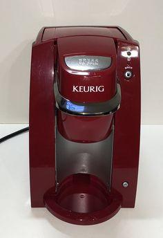 Keuring One Cup Red Coffee Maker Brewer Mini B 30 Excellent Clean K Cups #Keurig