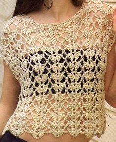 Bluson a crochet