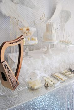 Angel Themed Baby Shower with Such Darling Ideas via Kara's Party Ideas   KarasPartyIdeas.com #Angels #Party #Ideas #Supplies (12)