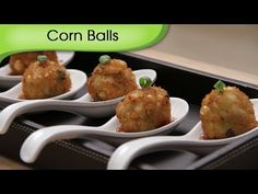▶ Corn & Water Chestnut Balls - Party Special Snacks, Appetizer, Starter Recipe By Ruchi Bharani [HD] - YouTube