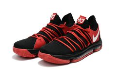 44ec2633baf4 New Colorways KD 10 X X University Red Black White 2018 Original Basketball  Shoes On Sale
