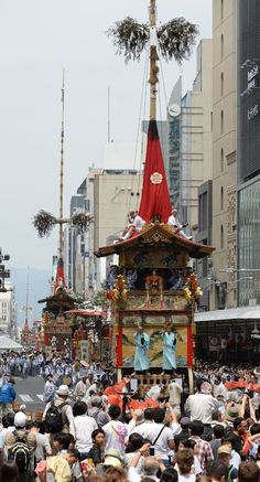 Gion Matsuri Festival in Kyoto, Japan - One of the best things i've ever seen.