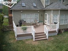 Composite Deck with Vinyl Guardrail.  Thanks for pinning Janice!
