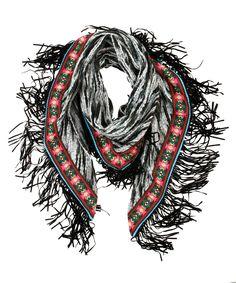 Vowen Fringe Scarf Black - Jenterommet Fringe Scarf, Black, Fashion, Moda, Black People, Fashion Styles, Fashion Illustrations