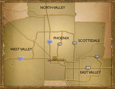 Phoenix Regional Map
