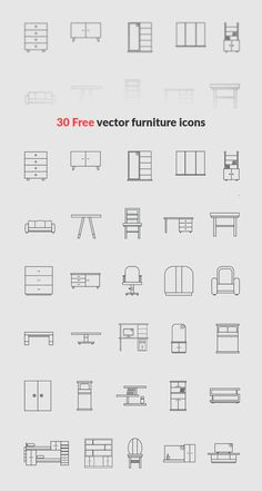 30 Free Furniture Icons