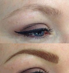 View our permanent cosmetics eyebrow tattoo before and after photos from actual clients, performed by our Certified Permanent Cosmetic Professionals. Before After Photo, Hair Stroke Eyebrows, Eyebrow Tattoo, Cosmetics, Tattoos, Irezumi, Tattoo, A Tattoo
