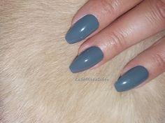 gray glossy coffin grey nails fashion di LaSoffittaDiSte su Etsy