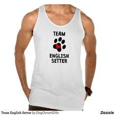 Team English Setter American Apparel Fine Jersey Tank Top Tank Tops