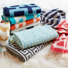 Jonathan Adler Throw Blanket Richard Nixon Stripe. #laylagrayce #jonathanadler