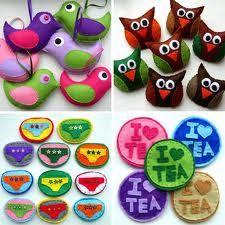 felt craft - Google Search - dove shape bird, owl, tea coasters...