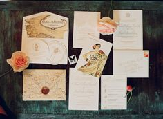 vintage invitation suite // #invitations #weddings