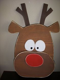 Reindeer - Wood Craft Winter/Christmas - DIY and Crafts Winter Wood Crafts, Christmas Wood Crafts, Christmas Signs, Christmas Deco, Christmas Projects, Winter Christmas, Holiday Crafts, Holiday Fun, Christmas Ornament